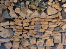 Pequeño depósito de madera en una cabaña Fotografía de archivo