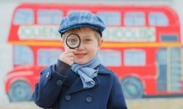 Pequeño detective Fotografía de archivo