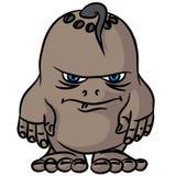 Pequeño dibujo un monstruo enojado Foto de archivo