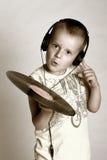 Pequeño DJ Imagen de archivo libre de regalías