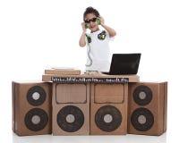 Pequeño DJ imagen de archivo