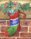 Pequeño duende de la Navidad linda Fotografía de archivo