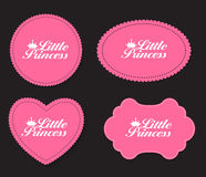 Pequeño ejemplo de princesa Label Set Vector libre illustration