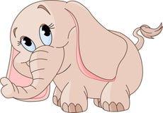 Pequeño elefante del bebé stock de ilustración