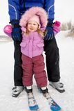 Pequeño esquiador Imagen de archivo