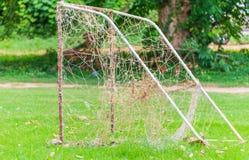 Pequeño fútbol de la meta Fotografía de archivo