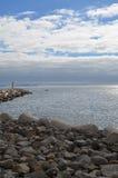 Pequeño faro en la isla de Madeira Fotos de archivo libres de regalías
