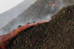 Pequeño flujo de lava Imagen de archivo