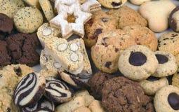 Pequeño fondo de las galletas de mantequilla Foto de archivo libre de regalías