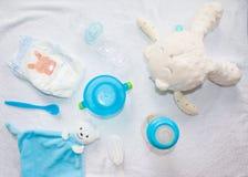Pequeño fondo de los accesorios del niño o del bebé Imagen de archivo