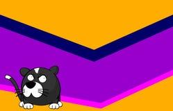 Pequeño fondo desanimado de la historieta del gato de la bola libre illustration