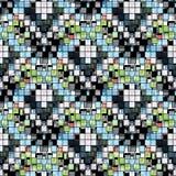 Pequeño fondo geométrico inconsútil coloreado brillante de los polígonos ilustración del vector