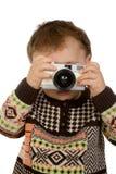 Pequeño fotógrafo Imagenes de archivo