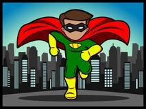 Pequeño funcionamiento del super héroe Foto de archivo libre de regalías