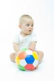 Pequeño futbolista Imagenes de archivo
