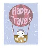 Pequeño gatito - viajero Foto de archivo libre de regalías