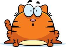 Pequeño gato sorprendido ilustración del vector