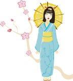 Pequeño geisha Imagen de archivo