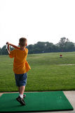 Pequeño golfista Imágenes de archivo libres de regalías