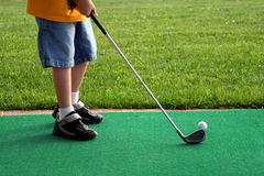 Pequeño golfista 2 Foto de archivo