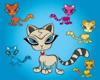 Pequeño gráfico del vector del gato stock de ilustración