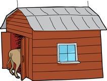 Pequeño granero con el animal