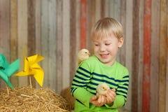 Pequeño granjero feliz Fotos de archivo libres de regalías