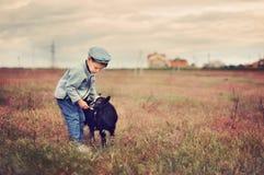Pequeño herdboy Fotos de archivo libres de regalías