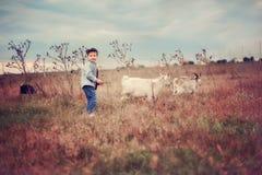Pequeño herdboy Imagen de archivo