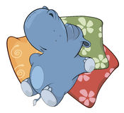 Pequeño hipopótamo historieta Imagen de archivo
