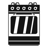 Pequeño icono del horno de gas, estilo simple stock de ilustración