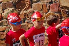 Pequeño Ironkids SA 2010 de los atletas foto de archivo