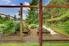 Pequeño jardín cercado vegetal Foto de archivo libre de regalías