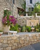 Pequeño jardín en Francia Foto de archivo