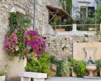 Pequeño jardín en Francia Foto de archivo libre de regalías