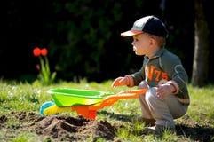 Pequeño jardinero Imagen de archivo