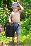 Pequeño jardinero fotos de archivo libres de regalías