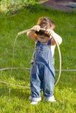 Pequeño jardinero del bebé Imagen de archivo
