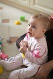 Pequeño juego del bebé Fotografía de archivo