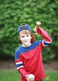 Pequeño jugador de béisbol Fotografía de archivo