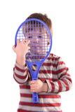 Pequeño jugador de tenis fotografía de archivo