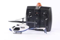 Pequeño juguete controlado de radio del helicóptero Fotos de archivo