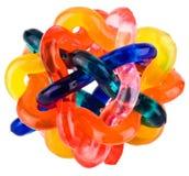 Pequeño juguete flexible entrelazado colorido fotografía de archivo libre de regalías