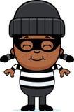 Pequeño ladrón sonriente de la historieta libre illustration