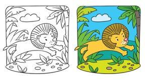 Pequeño libro de colorear del león libre illustration