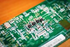 Pequeño lugar de la placa de circuito Imagenes de archivo