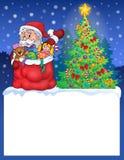 Pequeño marco con el tema 2 de la Navidad Fotos de archivo
