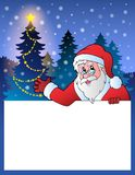 Pequeño marco con Santa Claus 2 Foto de archivo libre de regalías