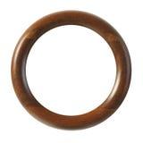 Pequeño marco de madera redonda Fotografía de archivo libre de regalías
