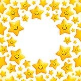 Pequeño marco sonriente lindo del vector de las estrellas libre illustration